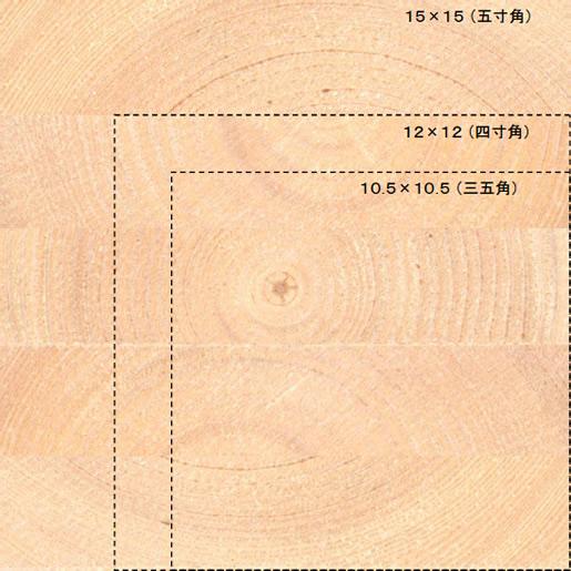 HABITAの柱 15×15(五寸角集成材)